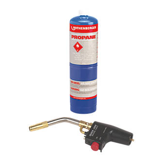 Rothenberger Quick-Fire Torch & Propane Gas Cylinder