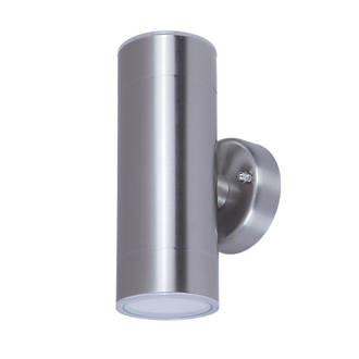 free shipping aa3dc 8a43e LAP Brushed Chrome Outdoor Up & Down Wall Light 760lm 5.5W