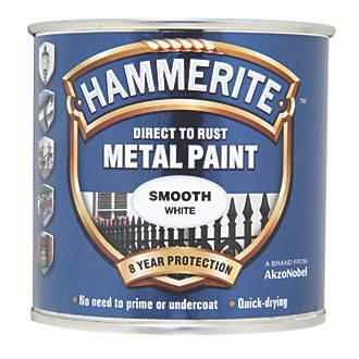 Hammerite Smooth Metal Paint White 250ml 29367