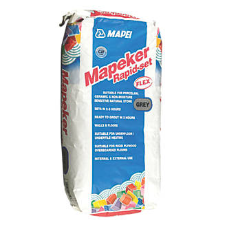 Mapei Rapid Set Adhesive Grey 20kg Wall Floor Tile Grout Fix