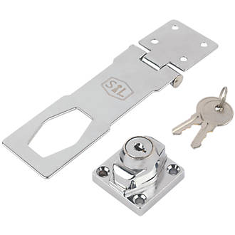 3 75mm Securit Hasp /& Staple Locking Padlock with Keys