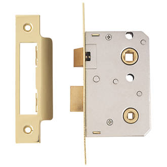 Era Brass Bathroom Lock 64mm Case 44mm Backset Mortice Locks
