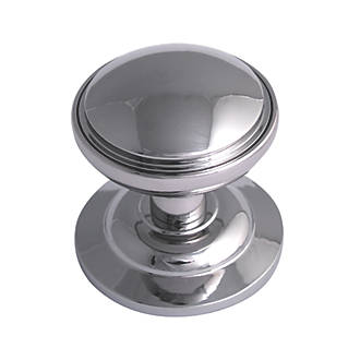 Chrome Door Knobs >> Fab Fix Decorative Round Door Knob Polished Chrome 75mm