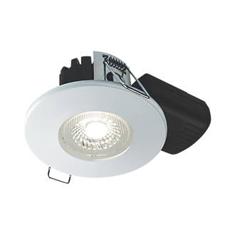 Collingwood Dt5 Fixed Fire Rated Led Downlight Matt White 500lm 5w 220 240v Bathroom Downlights Screwfix Com