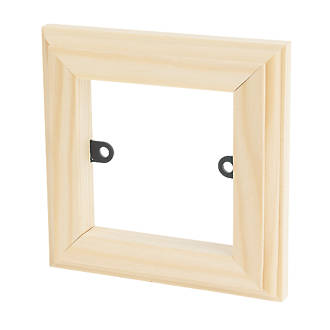 Varilight 1-Gang Light Switch Frame Surround Unfinished | Switches &  Sockets | Screwfix.com