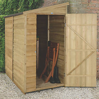 Forest 3 X 6 Nominal Pent Overlap Timber Shed With Assembly