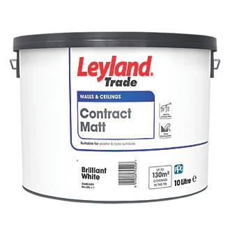 Leyland Trade Contract Matt Emulsion Paint Brilliant White 10ltr Emulsion Paints Screwfix Com