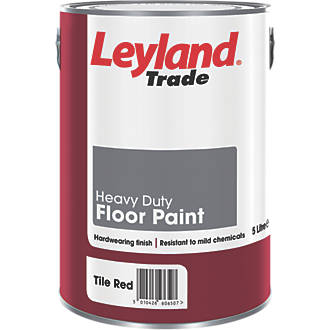 Leyland Trade Heavy Duty Floor Paint Tile Red 5ltr 33890