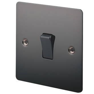 Lap 10ax 1 Gang 2 Way Light Switch Black Nickel Switches Sockets Screwfix Com