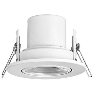 246b20e5aa4 LAP CosmosEco Adjustable Fire Rated LED Downlight Matt White 500lm 4W 240V