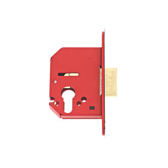 Union Stainless Steel Euro Profile Mortice Lock 68mm Case - 45mm Backset
