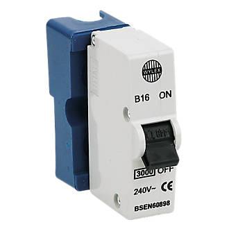 Wylex 16A SP Type B Plug-In MCB   MCBs   Screwfix.com   Wylex Fuse Box Plug In Mcb      Screwfix.com
