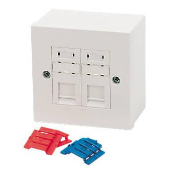 Outstanding Philex Rj45 Cat5E Module Outlet Kit Double Modules Screwfix Com Wiring Database Gramgelartorg
