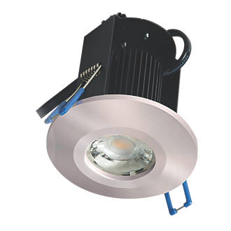 new arrival 45f48 dd9b3 Robus Triumph Activate Sixsense Fixed Fire Rated LED Downlight Brushed  Chrome 640lm 8W 240V