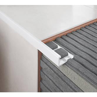 diall 8mm straight pvc tile trim white 2 5m