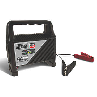 Maypole Mp7404 4a Compact Battery Charger 12v Car Battery Chargers Screwfix Com