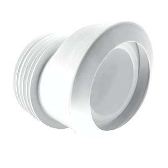 McAlpine MACFIT MAC-4 WC 20mm Offset Pan Connector White 90-112mm