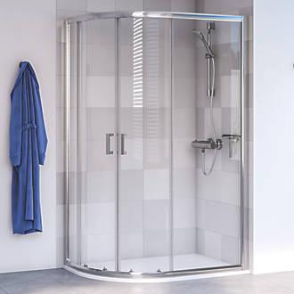 Aqualux Edge 6 Offset Quadrant Shower Enclosure Lh Rh Polished Silver 1200 X 800 1900mm