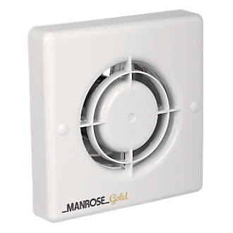 Manrose Mg100s 12w Bathroom Extractor Fan White 240v Bathroom Extractor Fans Screwfix Com
