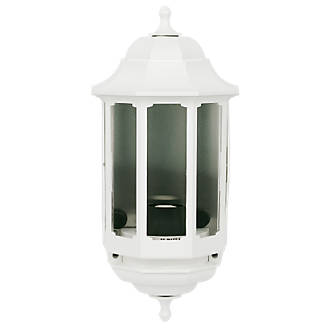 Asd 60w white slave half lantern wall light outdoor wall lights asd 60w white slave half lantern wall light outdoor wall lights screwfix aloadofball Image collections