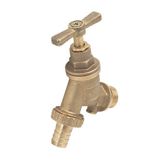 "1//2/"" Garden Tap with Hose Plug Cast Iron Bib Valve with Knob Handle /& Connector"