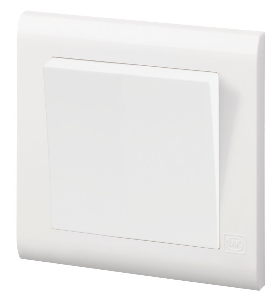 Mk Essentials 10ax 1 Gang 2 Way Light Switch White With White Inserts Switches Screwfix Com
