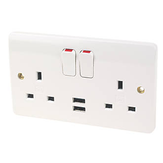 Mk 13a 2 gang double pole switched socket 21a usb charger white mk 13a 2 gang double pole switched socket 21a usb charger white switches sockets screwfix asfbconference2016 Image collections
