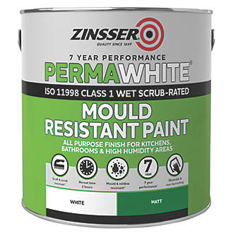 Zinsser Self Priming Paint Matt White 2 5ltr Specialist Paints Screwfix Com