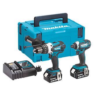 Makita DLX2145TJ 18V 5 0Ah Li-Ion LXT Cordless Combi Drill & Impact Driver  Twin Pack