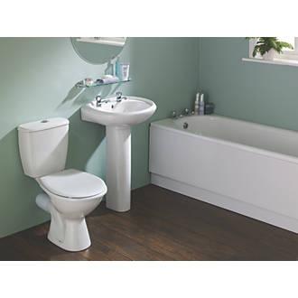 Grove Contemporary Single Ended Bathroom Suite With Steel Bath Bathroom Suites Screwfix Com