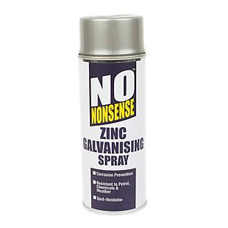 No Nonsense Zinc Galvanising Spray Paint Silver 400ml