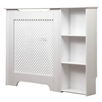 Victorian Radiator Cabinet W End Shelf White 1135 X 190 868mm 4109x