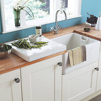 astracast white traditional belfast sink 595 x 455 x 255mm sinks