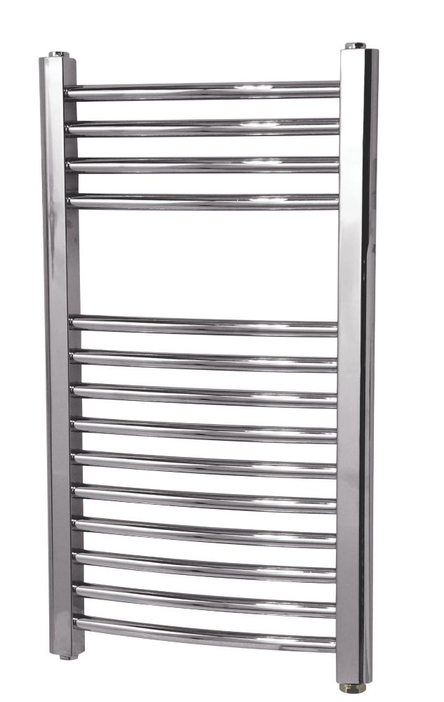 Flomasta Curved Electric Towel Radiator 700 x 400mm Chrome