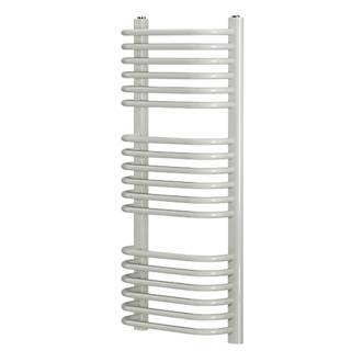 Blyss Cap22gc038 Curved D Bar Towel Radiator 900 X 400mm White 1555btu Towel Rails Screwfix Com