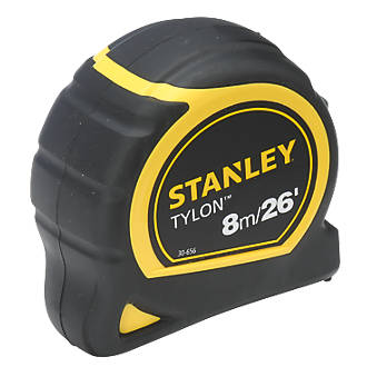 BULK DEAL 6 X STANLEY 8M //26/' TYLON TAPE MEASURES 0 30 656