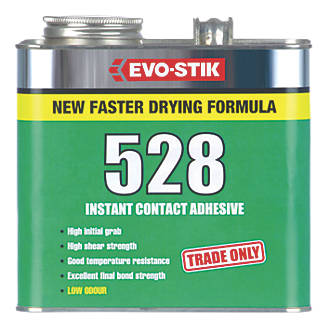 EvoStik Industrial Contact Adhesive Transluscent Amber Ltr - Fast drying tile adhesive