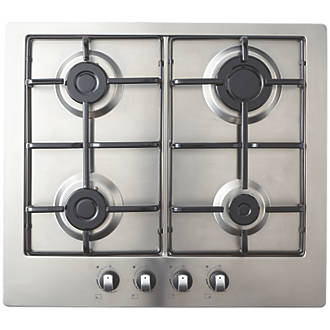 Cooke Lewis Gasuit4 Gas Hob Stainless Steel 83 X 580mm