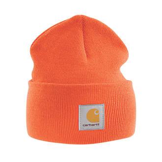 8b6513bca7ab1 Carhartt A18 Beanie Hat Orange (4242F)