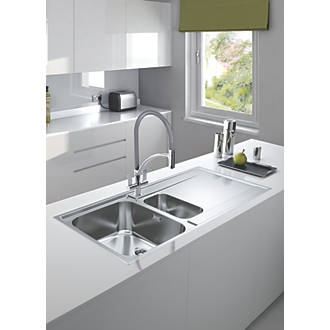 Tremendous Franke Maris Slim Top Inset Kitchen Sink Stainless Steel 1 5 Bowl 1000 X 510Mm Home Interior And Landscaping Ologienasavecom