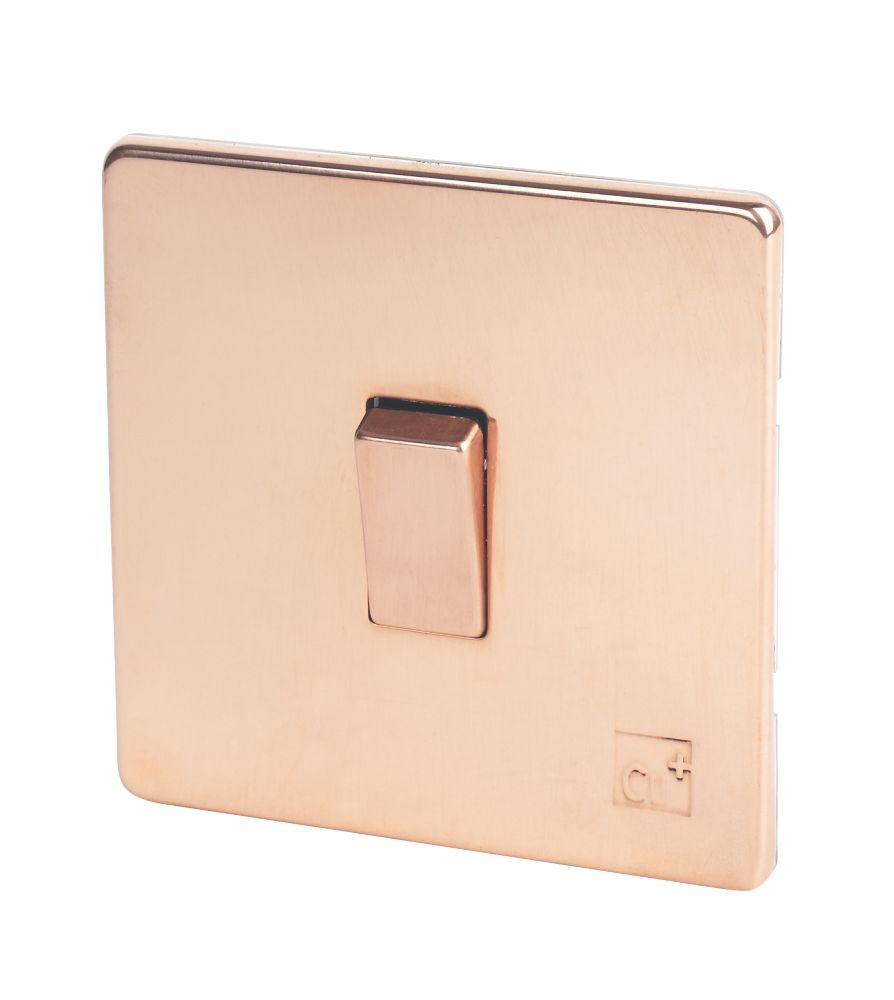 Varilight 10ax 1 Gang 2 Way Light Switch Anti Microbial Copper Switches Sockets Screwfix Com