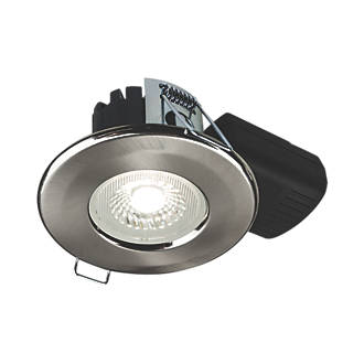 Collingwood Dt5 Fixed Fire Rated Led Downlight Brushed Steel 500lm 5w 220 240v Bathroom Downlights Screwfix Com