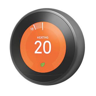 Google Nest Smart Thermostat Hot Water Control Black Wireless Thermostats Screwfix Com