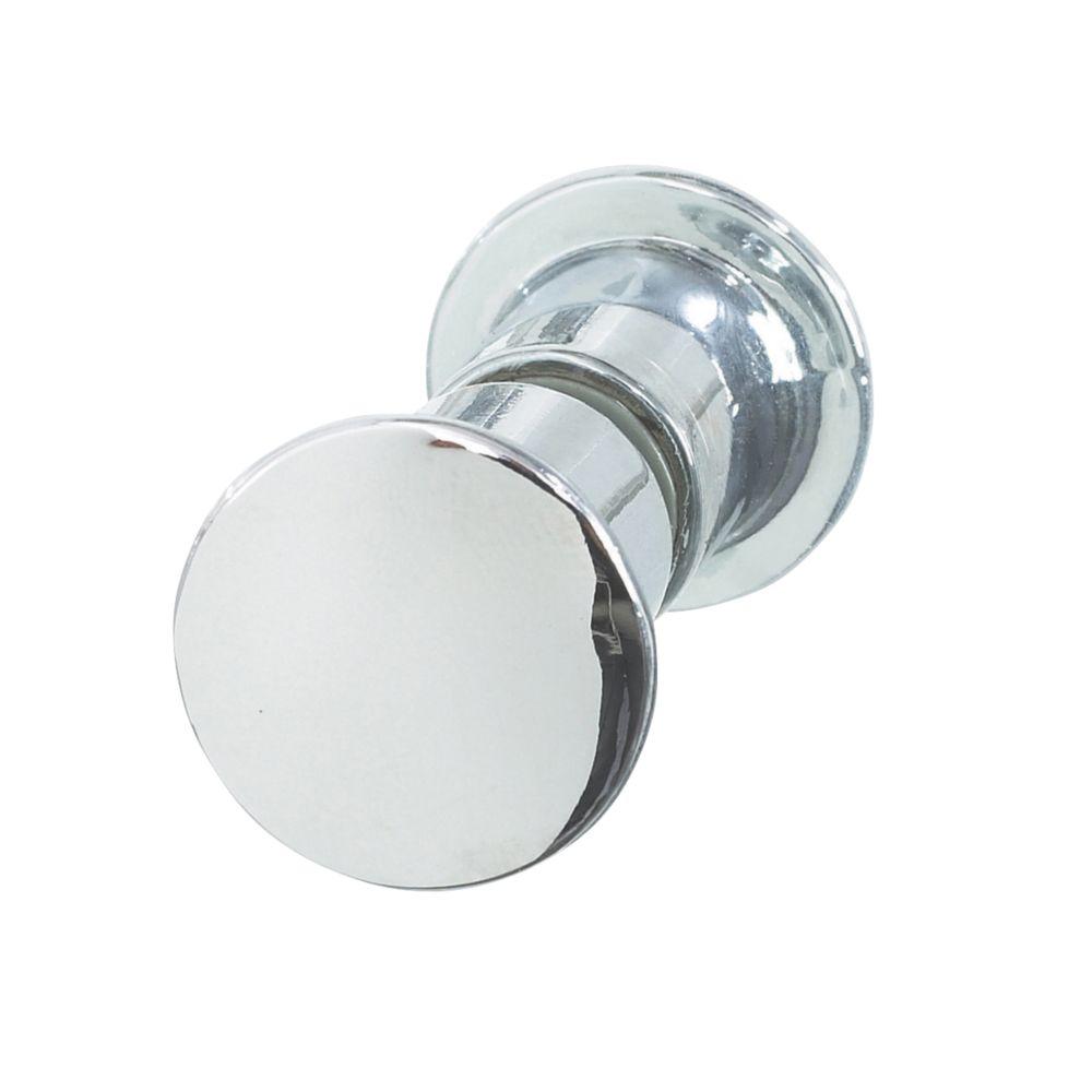 Aqualux Shine Round Shower Door Knob Chrome 25mm Single Shower Spares Parts Screwfix Com