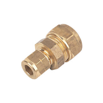 8mm Straight Brass Tube Coupling Complete With Olives Pack of 1