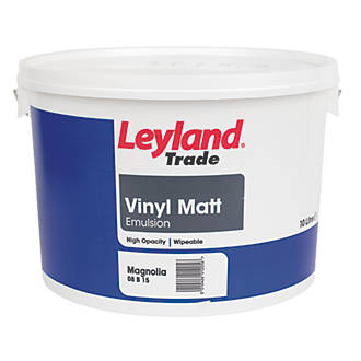 Leyland Trade Vinyl Matt Emulsion Paint Magnolia 10ltr Emulsion Paints Screwfix Com