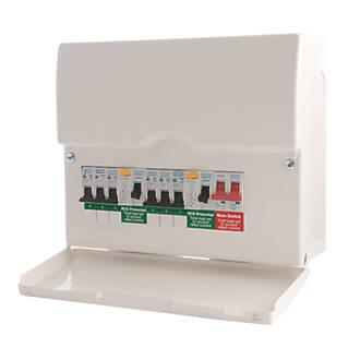 british general 12-module 6-way populated high integrity dual rcd consumer  unit | domestic consumer units | screwfix.com  screwfix.com