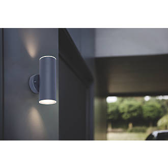 brand new a9bbd 90bb6 LAP Charcoal Grey LED Up & Down Outdoor Wall Light 2 x 350lm 5.3W