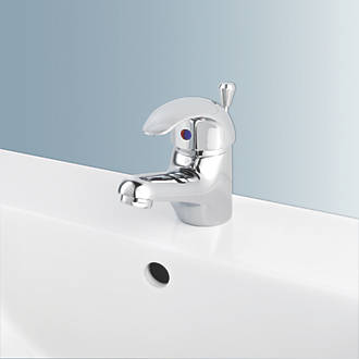 swirl bathroom basin mono mixer tap with pop up waste