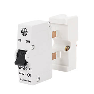 Wylex 6A SP Type B Plug-In MCB | MCBs | Screwfix.com | Wylex Standard Fuse Box |  | Screwfix.com